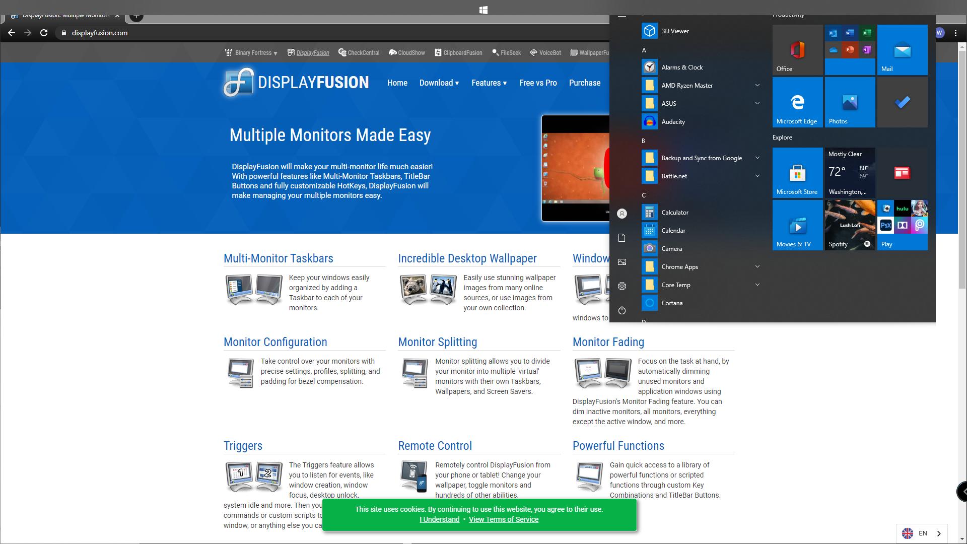 DisplayFusionWindows10MissingTaskbarBrokenStartButton.png