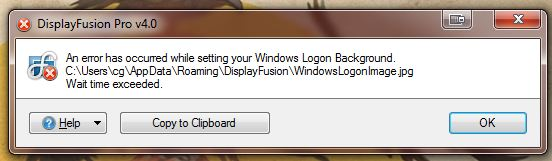 Error trying to set windows logon background • Discussions