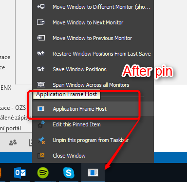 Feature Request - pin Modern UI/Universal Apps from Windows