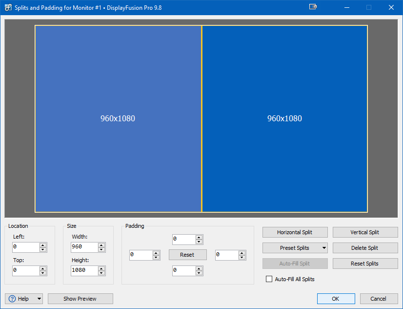 Monitor Splitting Window