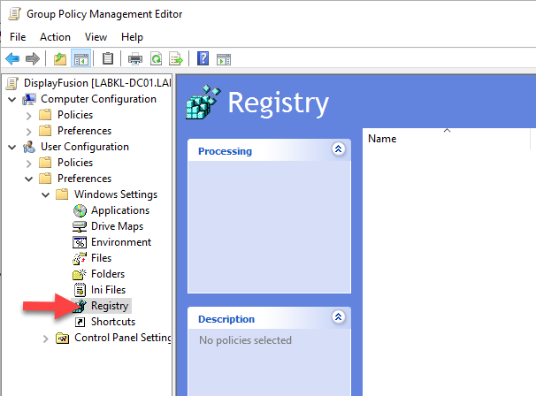 The Registry Section of Group Policy